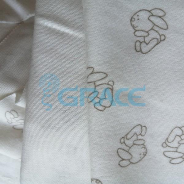 Интерлок зайцы - ткань хлопковая трикотажная с рисунком