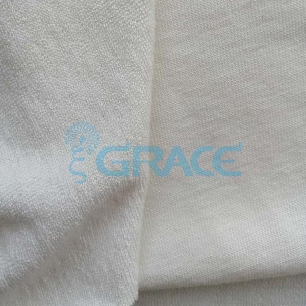 Махра GVFB394 - ткань бамбуковая трикотажная, экрю