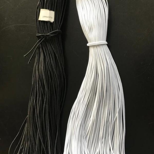 Шляпная резинка 1 мм. Белая, черная