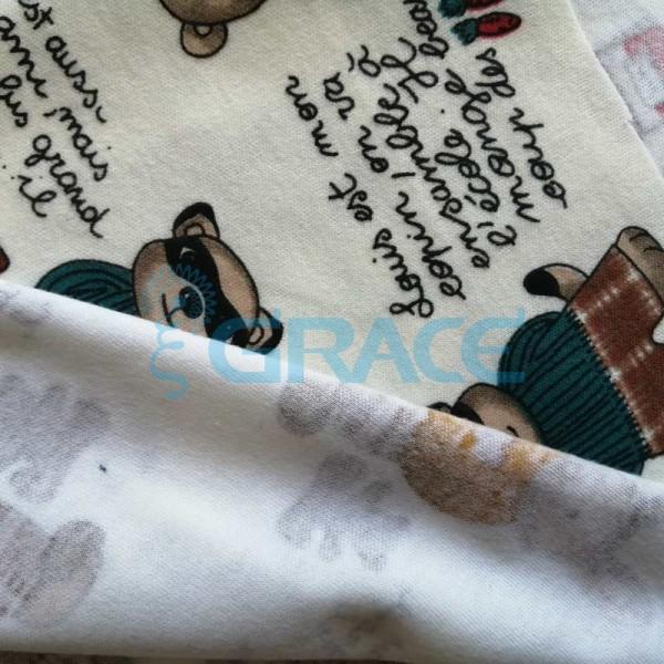 Интерлок с надписями рецептами - ткань хлопковая трикотажная с рисунком