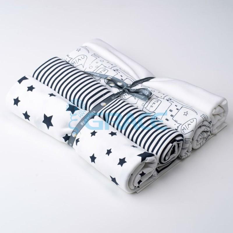Коллекция интерлок и рибана с полосками, котами, звездами - ткань хлопковая, трикотаж