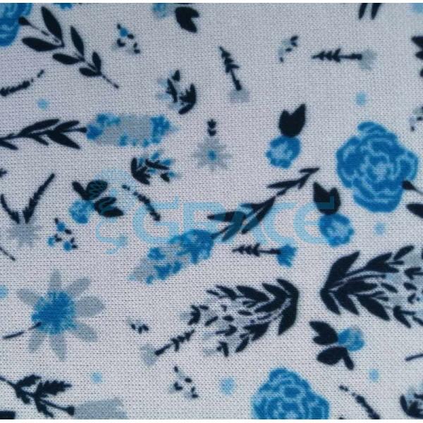 Коллекция интерлок с рисунком цветы - ткань хлопковая, трикотаж