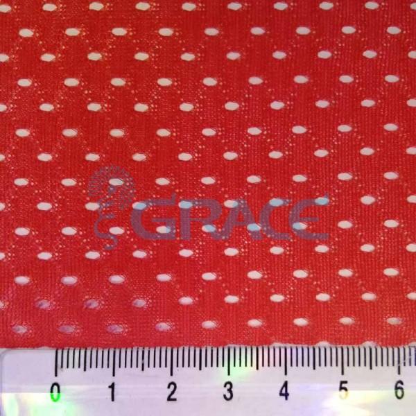 Спортивная сетка эластичная 71 гр/м², красная средняя, Siatka S 1100 T