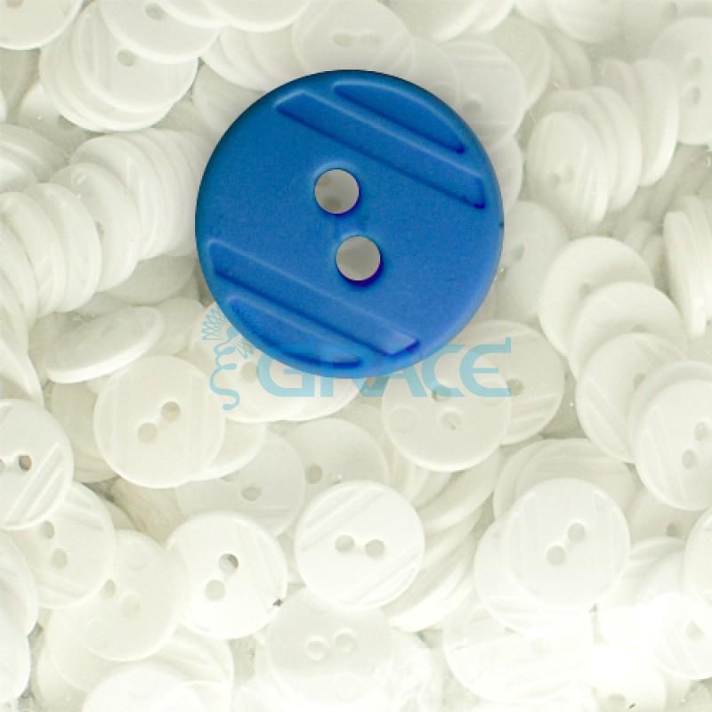 Пуговицы средние круглые плоские Guz YP 1824 (синие 50-69)