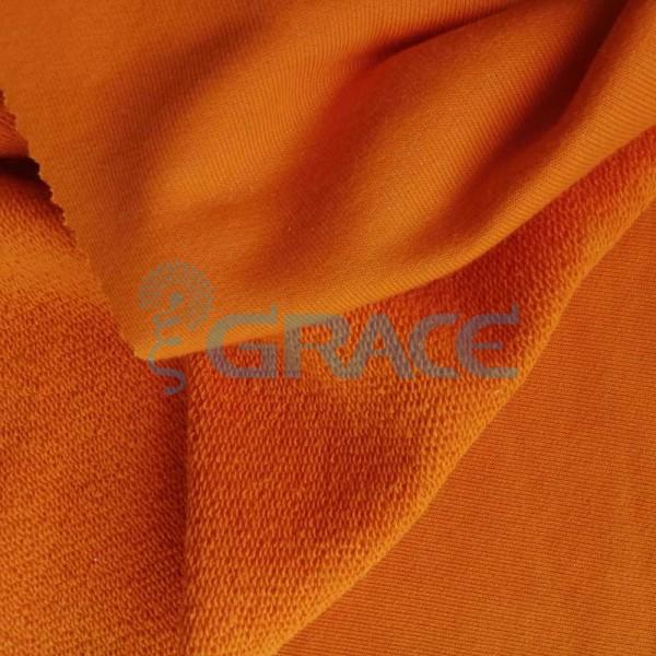 Футер celebrity 280 - ткань хлопковая с начесом оранжевая