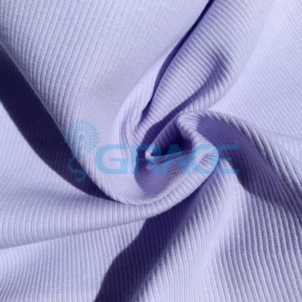 Рибана - ткань хлопковая трикотажная, с рубчиком в лиловом цвете