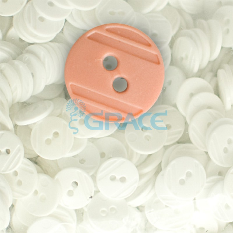 Пуговицы средние круглые плоские Guz YP 1824 (оранжевые 22-06)