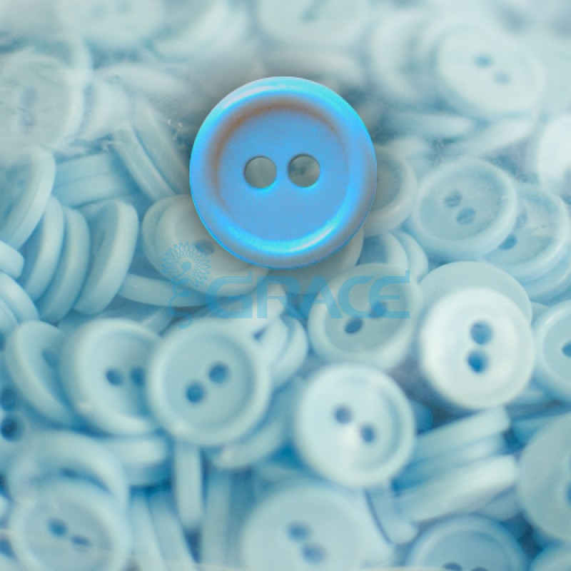 Пуговицы мелкие круглые плоские Guz YP 1818 (голубые 40-04)