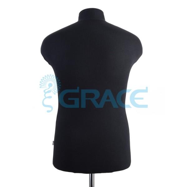 Манекен мягкий торс мужской 48 размер, черный