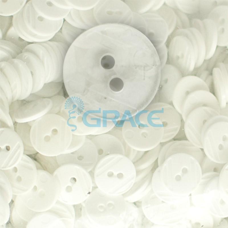 Пуговицы средние круглые плоские Guz YP 1824 (прозрачные 01-11)