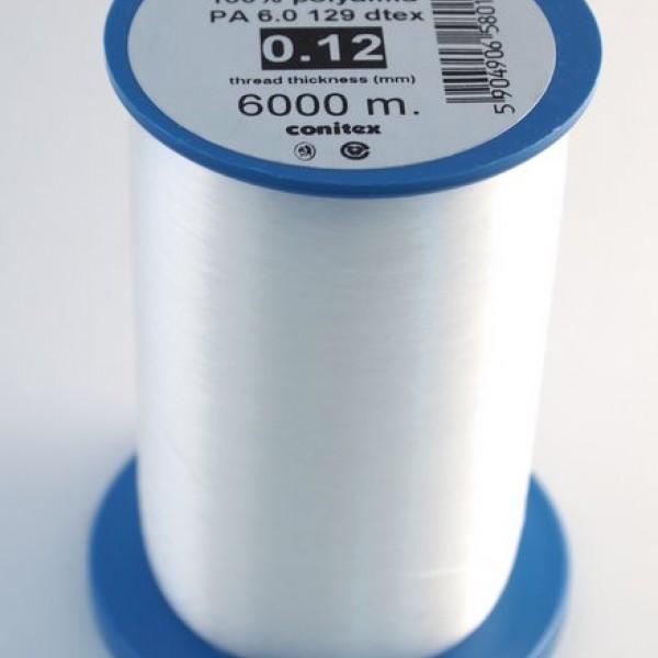 "Мононить ""Conitex"" 0.12 mm * 129 dtex * 6000 m"