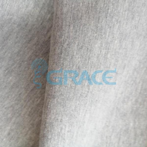 Кулирка GVS38 - ткань хлопковая трикотажная, меланж светло-серая