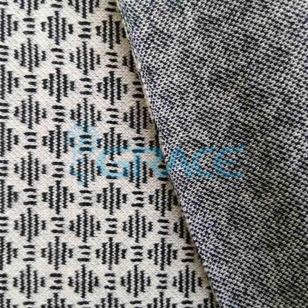 Жаккард MZD 6056 - ткань из вискозы трикотажная с полиэстером и эластаном, серая