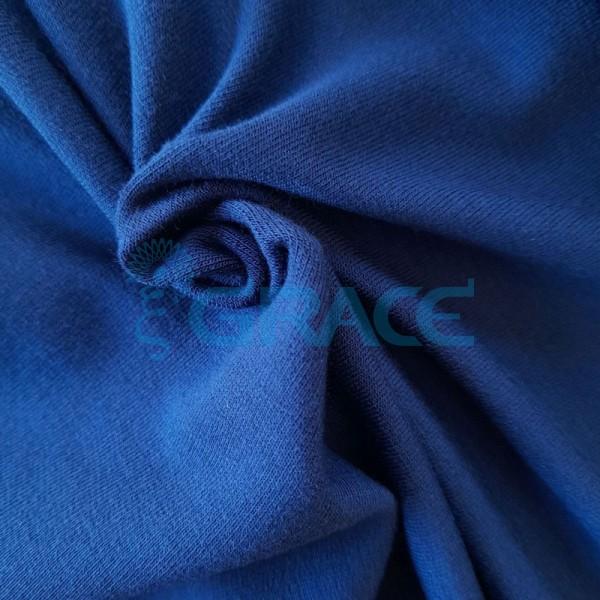Вискоза - ткань натуральная трикотажная, эластичная в темно-синем цвете