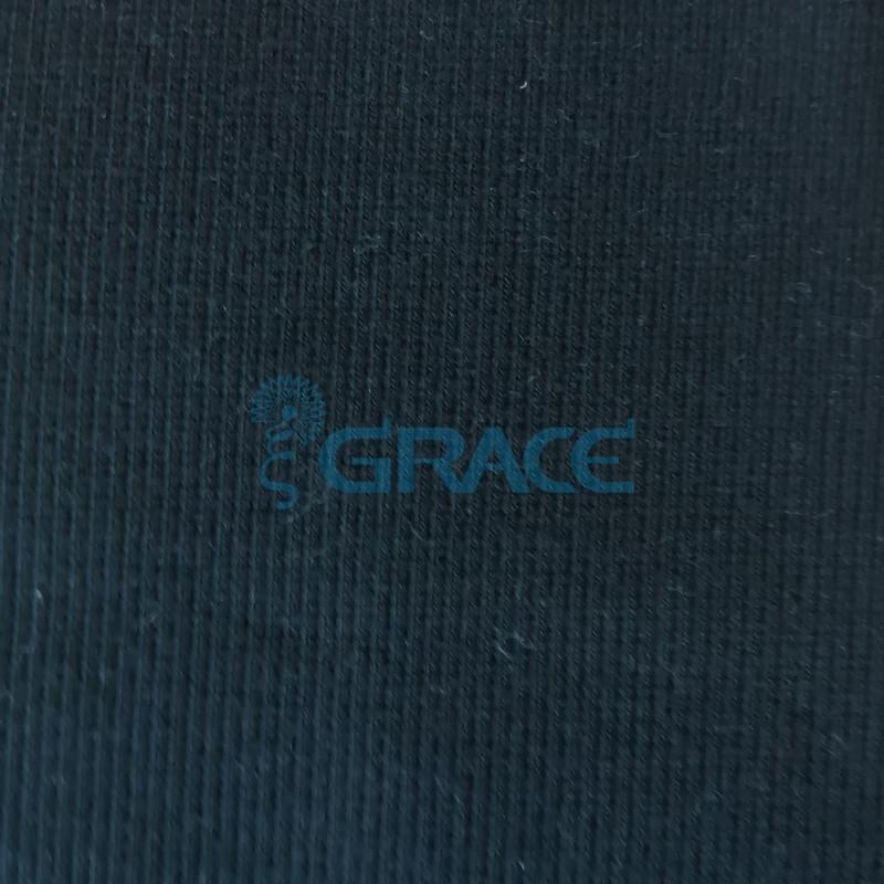 Кашкорсе GVC46 - ткань хлопковая трикотажная, черная