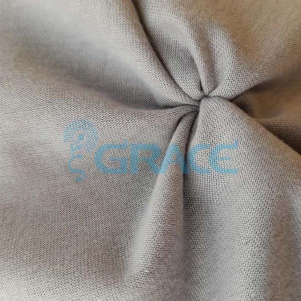 Кулирка джерси мати - ткань хлопковая трикотажная, светло-серая однотонная