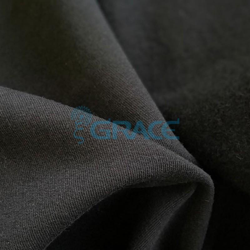Футер 280 гр. - ткань хлопковая, с начесом, черного цвета