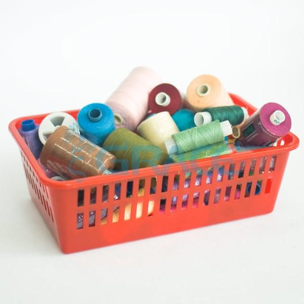 Нитки швейные Polyfil Corespun (красные)