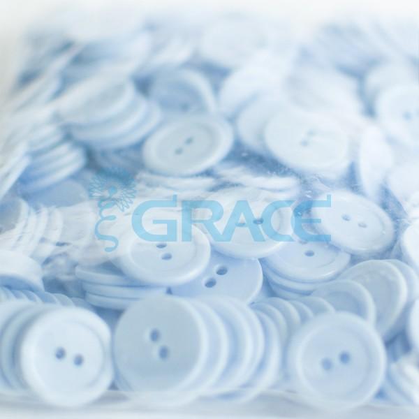 Пуговицы большие круглые плоские Guz YP 1832 (голубые)