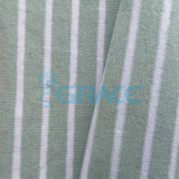 Кулирка MSL 1205 - ткань хлопковая трикотажная, в полоску 2 цвета: серый, белый