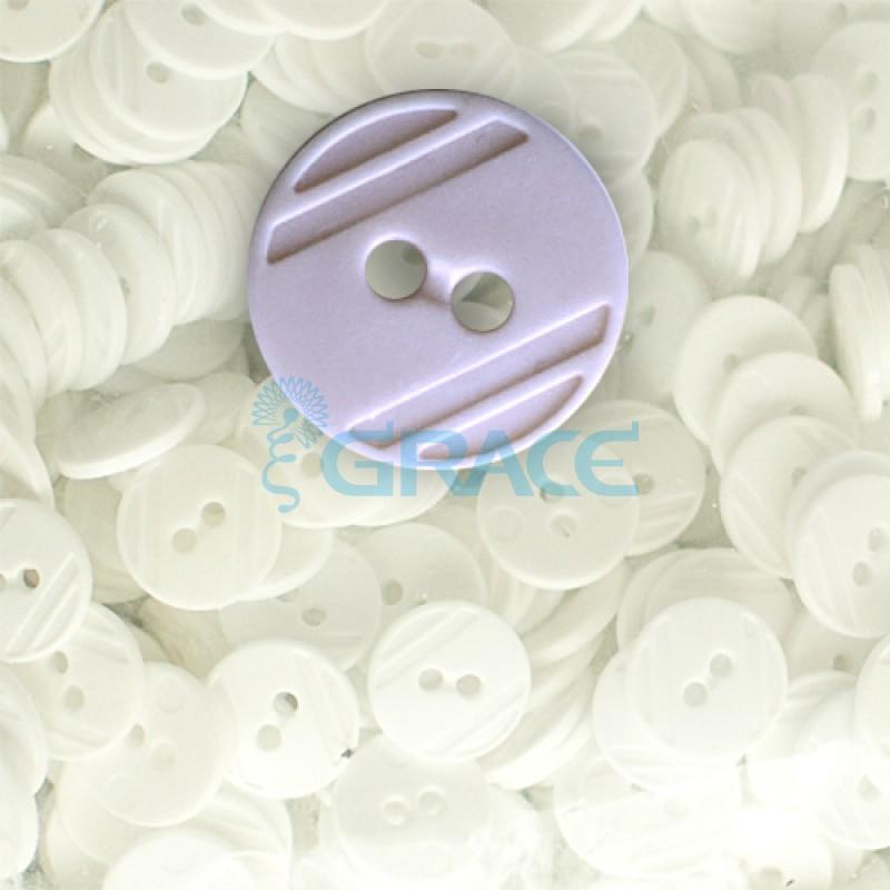 Пуговицы средние круглые плоские Guz YP 1824 (сиреневые 44-81)