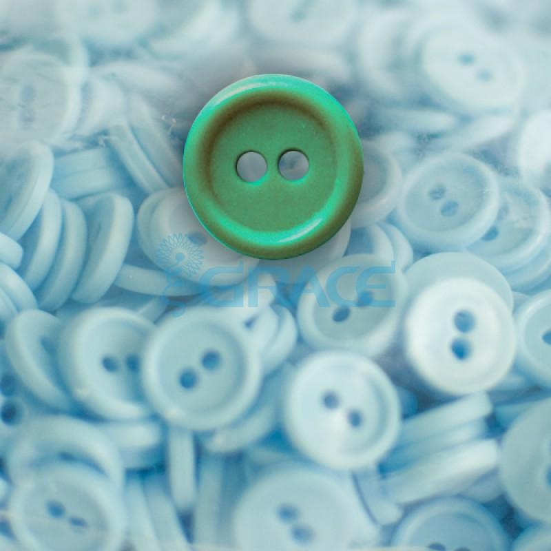 Пуговицы мелкие круглые плоские Guz YP 1818 (зеленые 60-19)