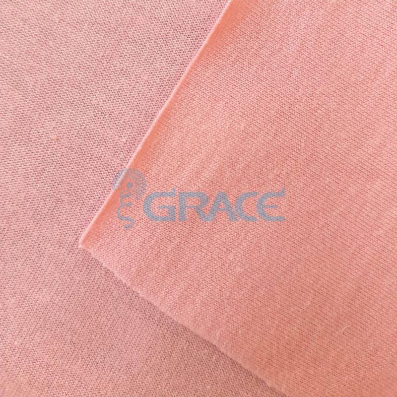 Кулирка джерси - ткань хлопковая трикотажная, розовая однотонная
