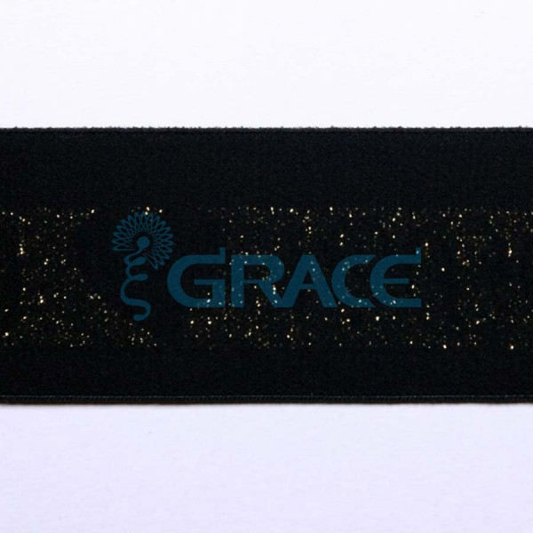 Резинка металлизированная с логотипом арт. 5270