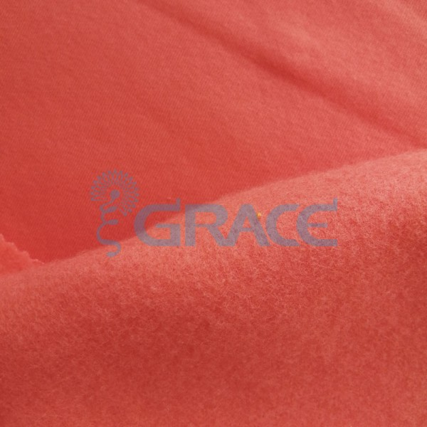 Футер - ткань хлопковая с начесом красная