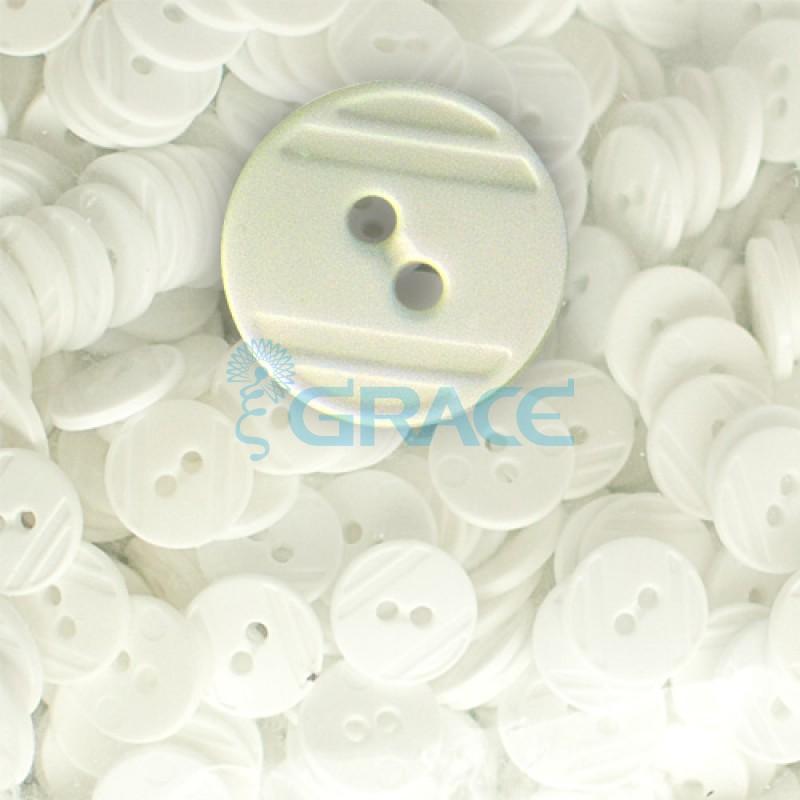 Пуговицы средние круглые плоские Guz YP 1824 (бежевые 10-21)
